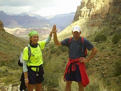 Diana Karls and Jason Wipperfurth after Grand Canyon Run 2011