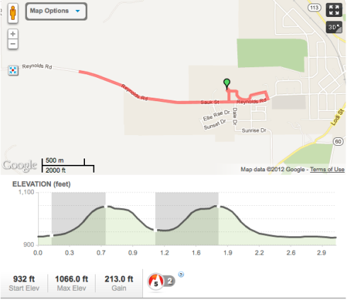 5K Course for 2012 Lodi Mothers Day Run